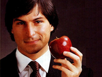 From L to R, George Clooney, Noah Wyle as Steve Jobs and the real Steve Jobs