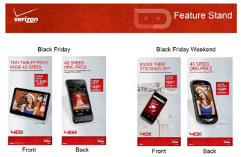 Verizon's Black Friday deals (L) include a free red HTC DROID Incredible 2 on Friday only