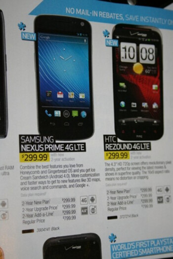 Best Buy's latest flyer accidentally refers to the Samsung GALAXY Nexus by an incorrect name
