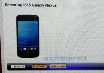 The first Android 4.0 phone for Verizon will still be called the Samsung GALAXY Nexus
