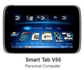 Picutre of ZTE V55 tablet surfaces