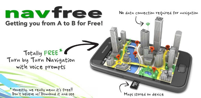 Navfree lands for Android, brings crowdsourced offline voice-guided navigation to many places