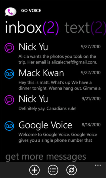 GoVoice updates to bring Google Voice to WP Mango