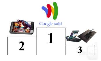 1st - Google Wallet  2nd - Glasses-free 3D displays  3rd - Motorola Lapdock and Asus Padfone