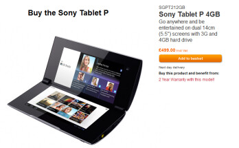 The Sony Tablet P is now available in the UK