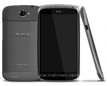 This rendering of the HTC Ville shows off capacitive buttons under the screen