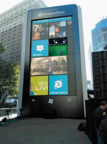 Windows Phone display in New York City