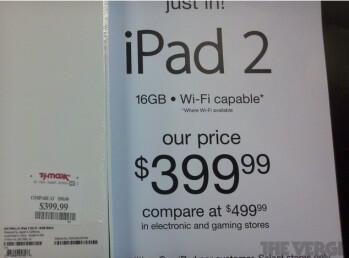 Apple iPad 2 doorbuster sale at TJ Maxx looks legit: price slashed to $399