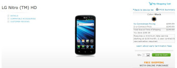 LG Nitro HD with its 720p display and 4G LTE connectivity is available today for $250 through AT&T