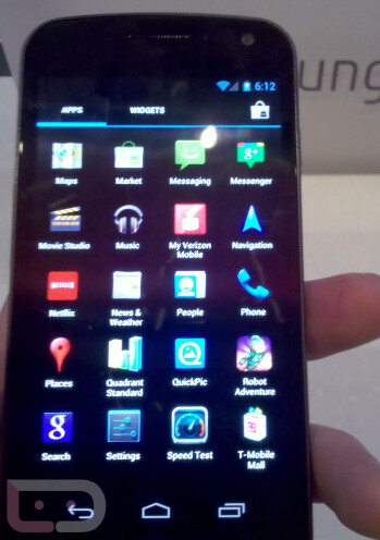 The Samsung Galaxy Nexus is on display at the Samsung Experience Store in NYC