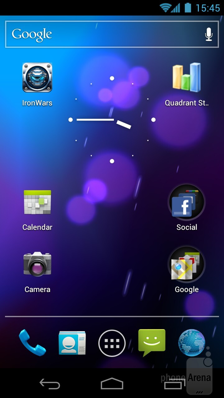 Android 4.0 ICS has a predominantly futuristic appearance - Android 4.0 Ice Cream Sandwich Review