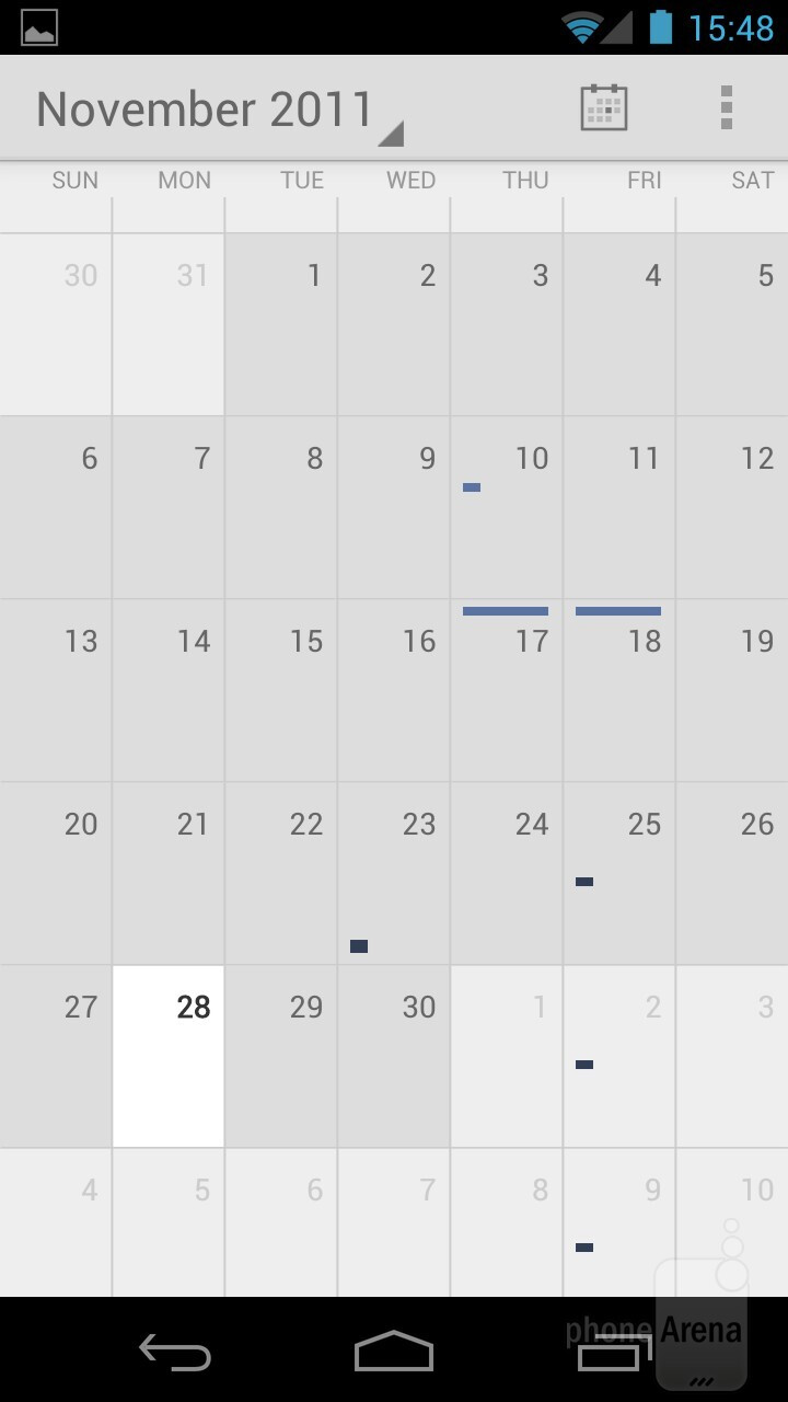 The Calendar - Android 4.0 Ice Cream Sandwich Review