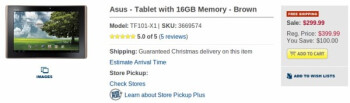 Asus Eee Pad Transformer drops down to a very enticing $299.99 price point at Best Buy