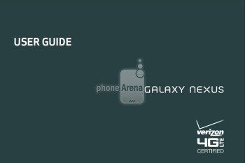 User Guide for the Samsung Galaxy Nexus is up on Verizon's site