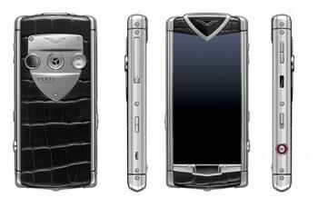 The Vertu Constellation is Vertu's first touchscreen luxury phone.