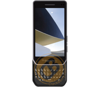 A leaked rendering of the BlackBerry Milan