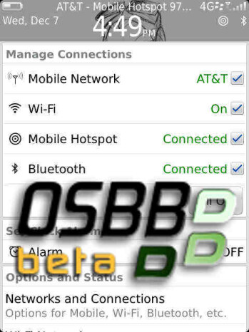 Leaked BlackBerry Torch 9810 OS build packs along mobile hotspot functionality