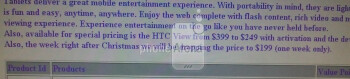 Sprint planning to bring the HTC EVO View 4G to $199 the week after Christmas?