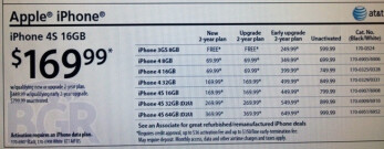 Radio Shack has the AT&T version of the Apple iPhone on sale starting Sunday
