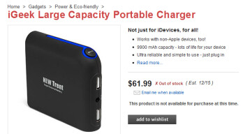 The iGeek gives you 9900mAh of power for $62