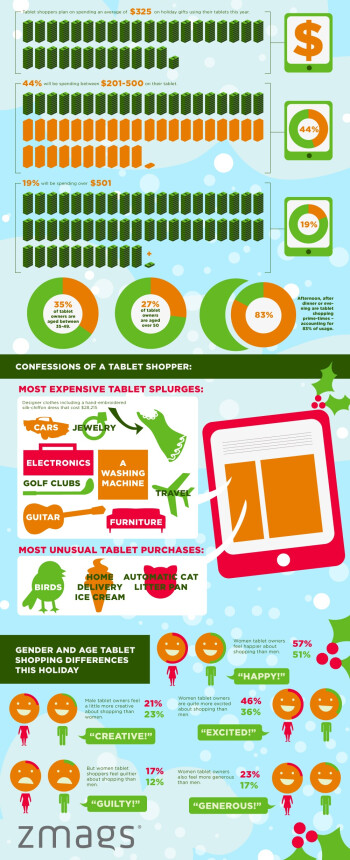 Holiday shopping patterns of tablet owners get their own infographic