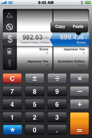 Convert can help convert measurements such as currency, distance, weight, force, and more
