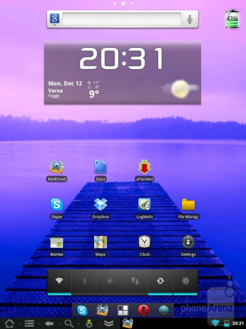 CyanogenMod 7 Alpha 3 running on the HP TouchPad