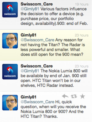Swiss carrier says Nokia Lumia 900 coming in February 2012