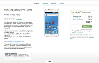 All-white version of the T-Mobile Samsung Galaxy S II is now ready for the taking online