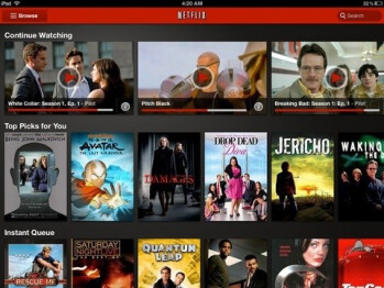 Netflix brings updated tablet UI to the iPad
