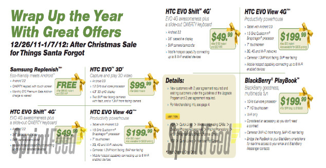 Save some money with Sprint's after Xmas sale - Sprint's after Xmas sale brings discounts on certain phones and tablets