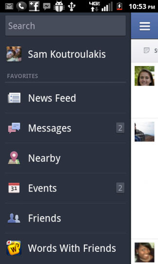 Facebook for Android.