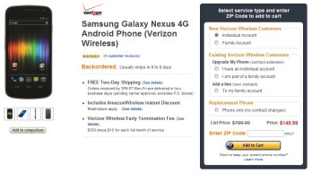 Amazon drops down the price of the Verizon Galaxy Nexus to an even better cost of $150
