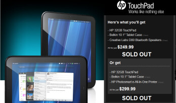 TigerDirect's two bundles for the HP TouchPad are sold out