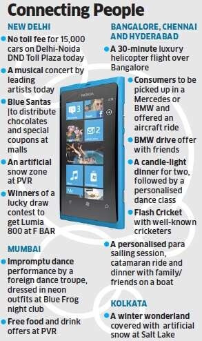 Nokia Lumia 800 and Lumia 710 launch accompanied by a stunning marketing campaign in India