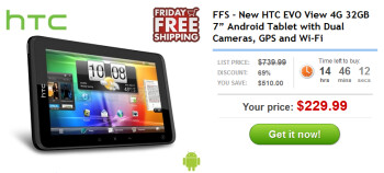 Daily Steals has a special price for today only on the HTC EVO View 4G