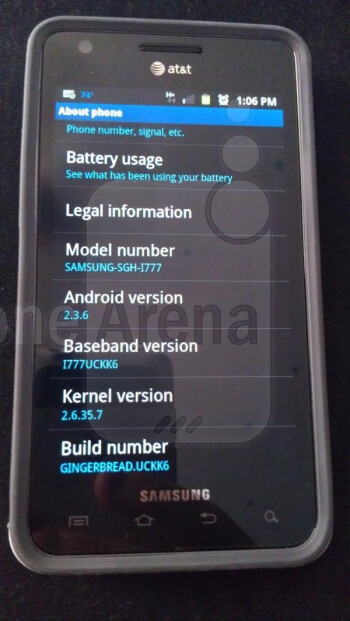 OTA update for the AT&T Samsung Galaxy S II brings it to Android 2.3.6