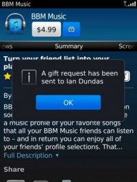 Request an app as a gift from a fellow BlackBerry user