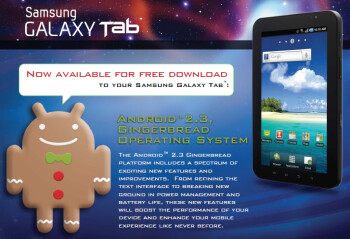 The U.S. Cellular version of the Samsung Galaxy Tab is getting Gingerbread