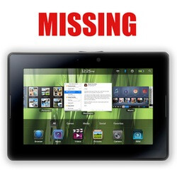 22 pallets of the BlackBerry PlayBook have been stolen