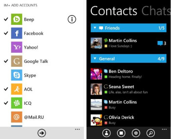 """Windows Phone gets cross-platform messaging service with """"Beep"""" for IM+"""