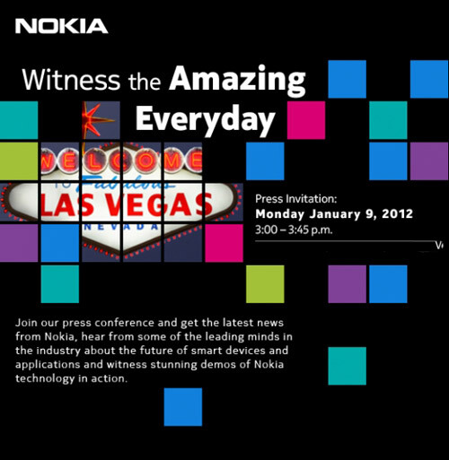 The invite to Nokia's CES event - Nokia sends out invites to January 9th event at CES, most likely for U.S. Windows Phone models