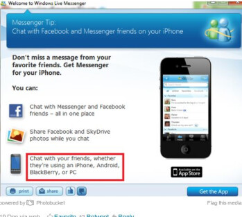 Microsoft forgets Windows Phone in Windows Live Messenger ad
