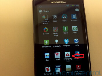 ...might have led to a new Emergency Alert app for the Motorola DROID BIONIC