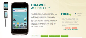 After a mail-in rebate and a signed contract, the Huawei Ascend II is free from US Cellular