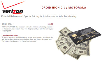 Costco is offering the Motorola DROID BIONIC for $99.99 in a special deal