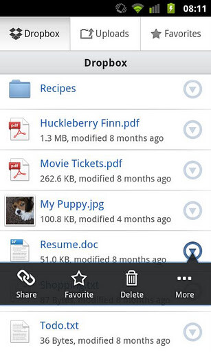 Dropbox releases completely overhauled Android app: Dropbox v2.0