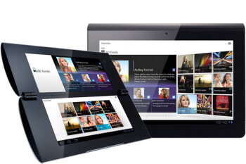 The Sony Tablet P (L) and the Sony Tablet S (R)