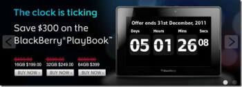 RIM is having an end-of-the-year sale for its BlackBerry PlayBook - countdown clock in tow as well