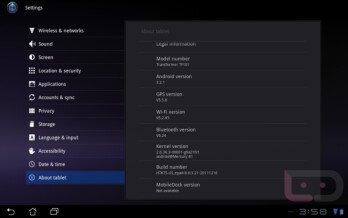 The Asus Eee Pad Transformer is receiving an update with no dairy products involved